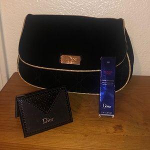DIOR BUNDLE: Cosmetic Bag, Mirror & Lip Gloss